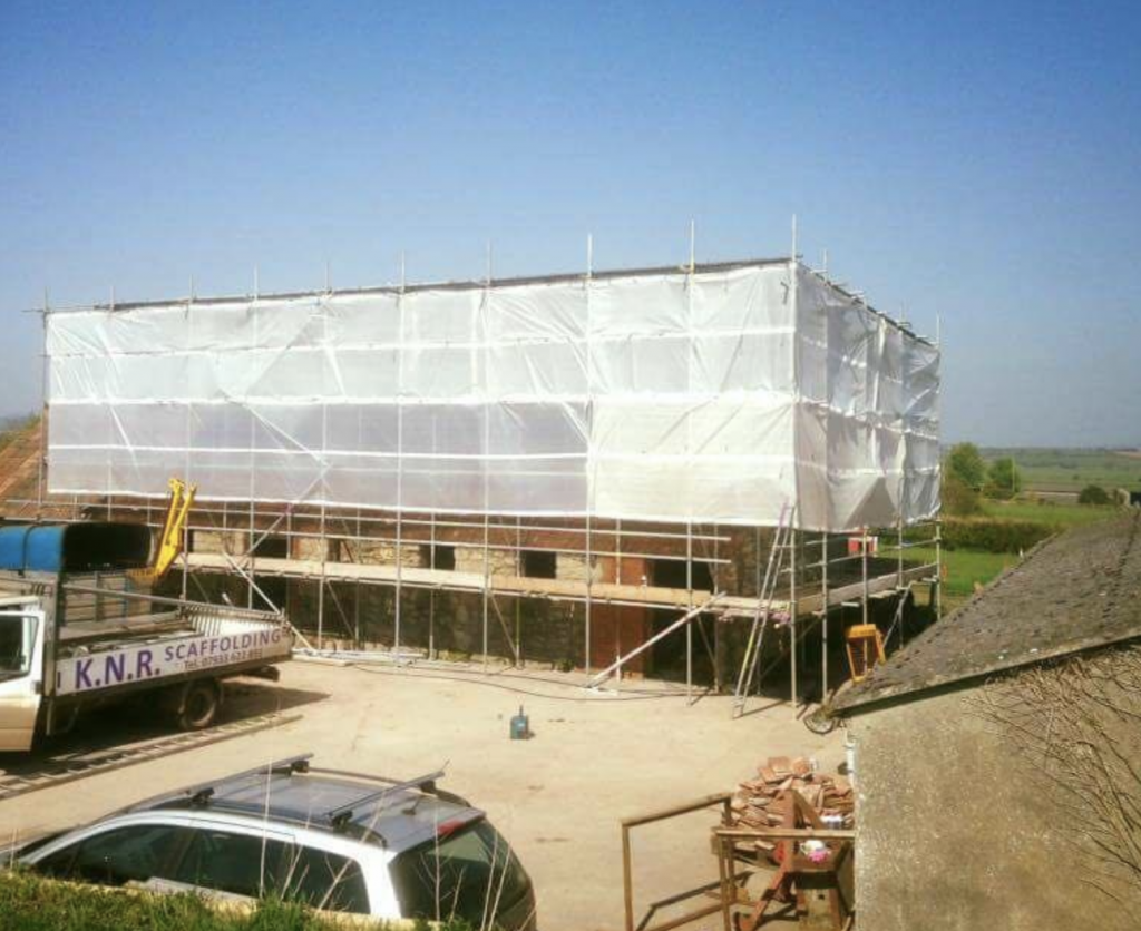 Temporary Roofs Taunton and Somerset - KNR Scaffolding