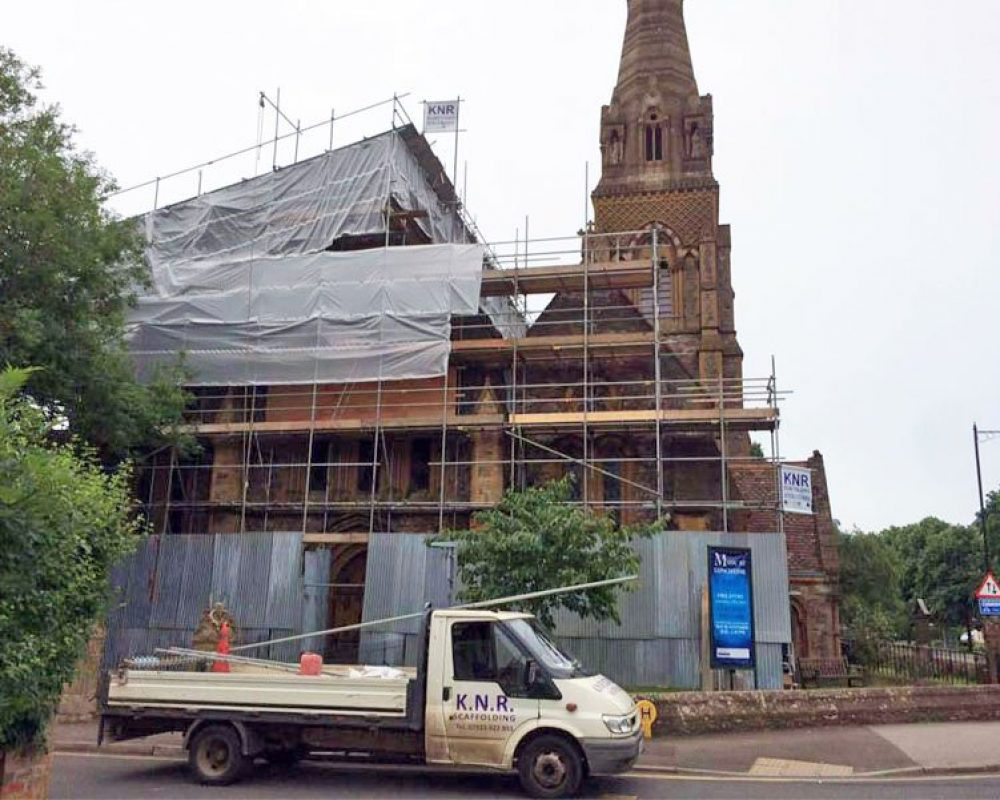 Commercial Scaffolding Taunton and Somerset - KNR Scaffolding